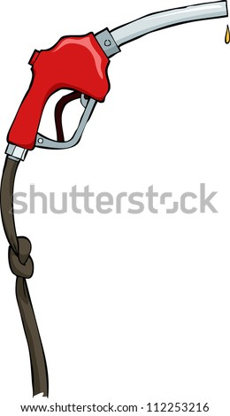 Refueling nozzle on a white background vector illustration - stock vector