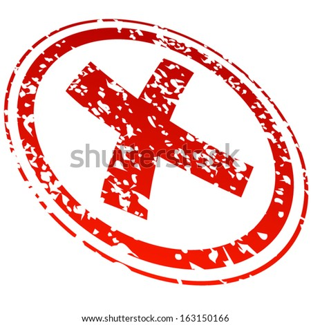 refused red stamp - stock vector