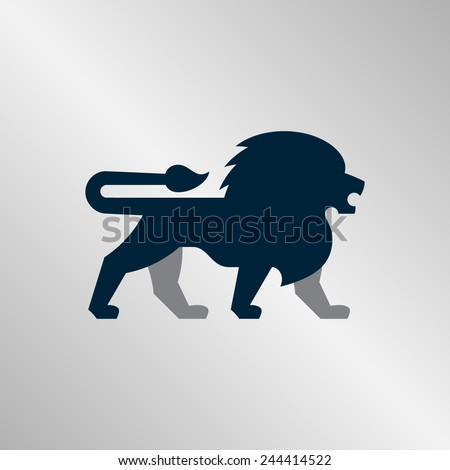 Regal illustration of a lion. Perfect for sports team logos or corporate identity.  - stock vector