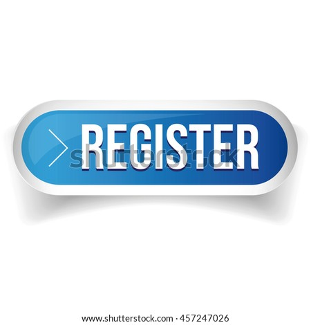 Register blue button vector - stock vector