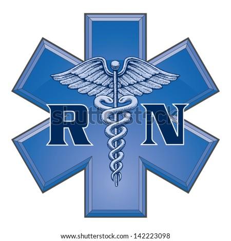 Registered Nurse Star Life Medical Symbol Stockvector 142223098