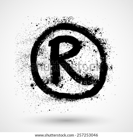 Registered Trademark - grunge icon - stock vector