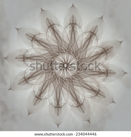 Regular geometric form generated on the computer. Fractal design. - stock vector
