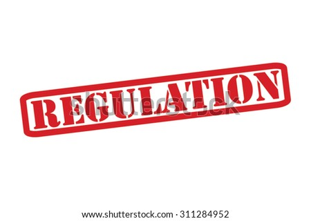 REGULATION red Rubber Stamp Vector over a white background. - stock vector