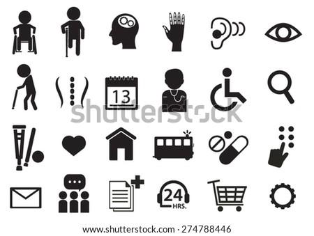 rehabilitation icon - stock vector
