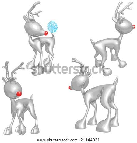 Reindeer - stock vector