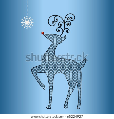 Happy womens day greeting card background stock vector for Reindeer tail template