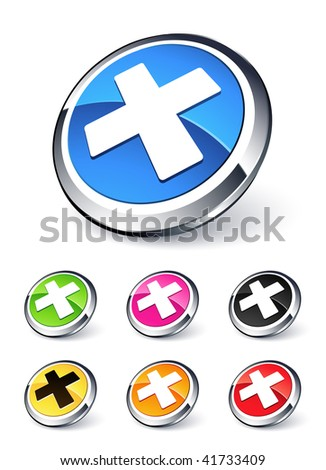 Rejected button - stock vector