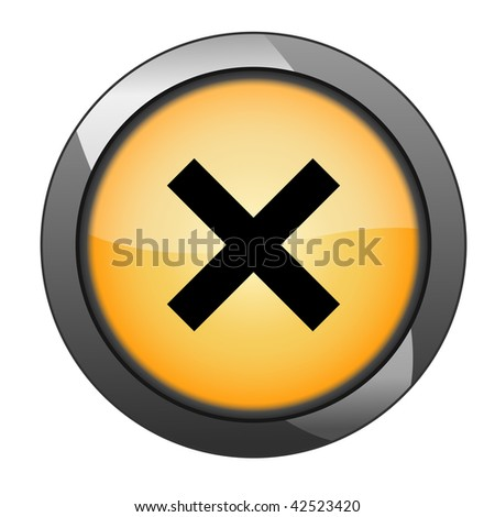 Rejected button. vector - stock vector