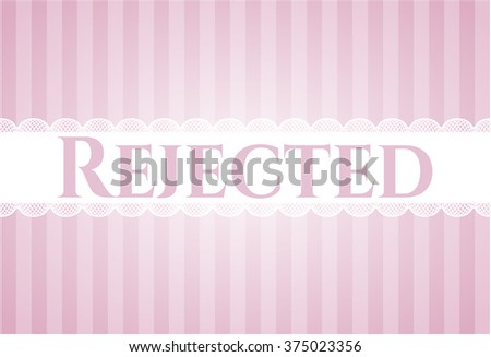 Rejected card - stock vector