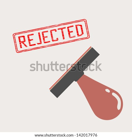 rejected stamp - stock vector
