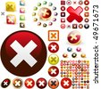 Rejected vector button set. Vector great collection. - stock vector
