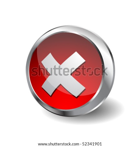 Rejection icon - stock vector
