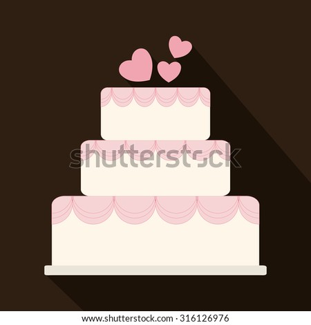 Relationship, wedding and love  celebration graphic design, vector illustration