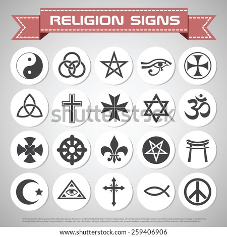 Religions icons set design - stock vector