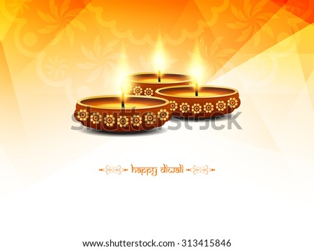 Religious happy diwali vector background design. - stock vector
