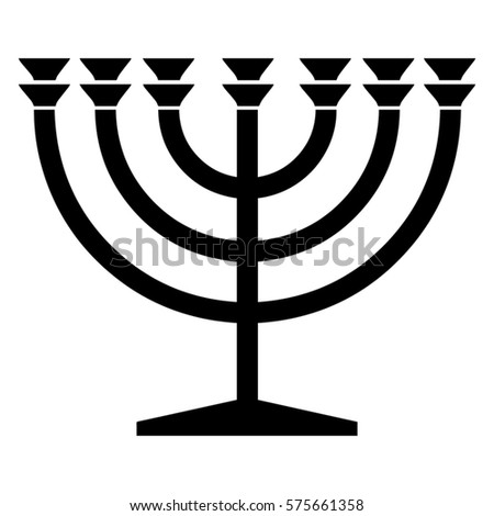 Religious Sign Judaism Menorah Vector Format Stock Vector Hd