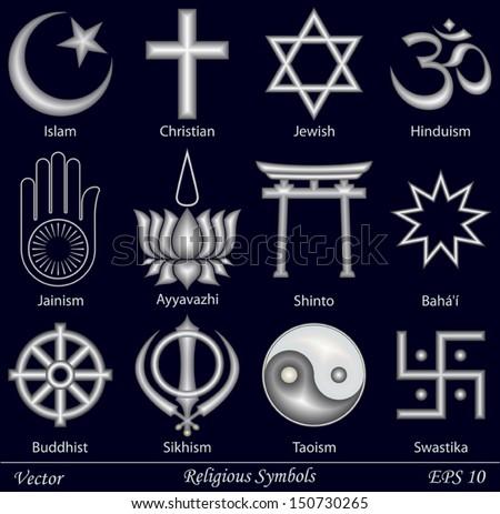 Religious Symbols Stock Vector 150730265 Shutterstock