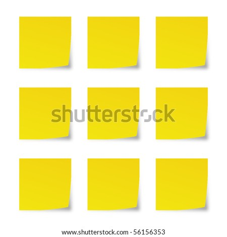 Reminder notes isolated on white background. Vector. - stock vector