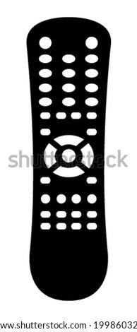 Remote control icon - stock vector