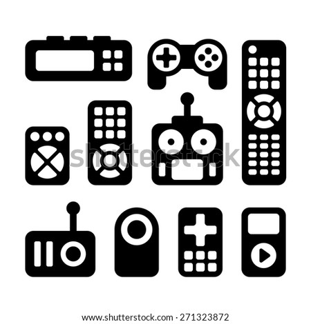 Remote Control Icons Set - stock vector