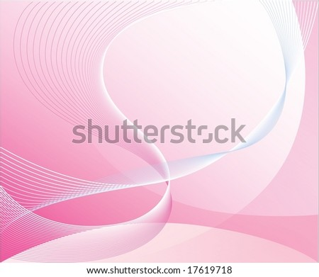 Rendered image, all parts closed, editing is possible. Beautiful abstract background with curls - stock vector