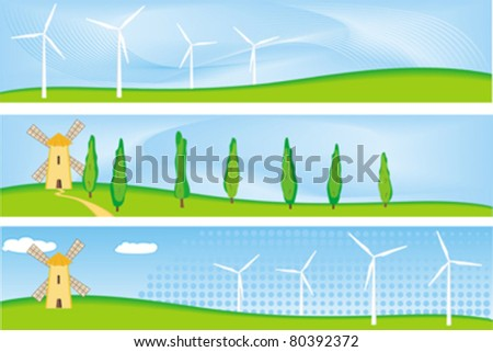renewable energy banner - stock vector
