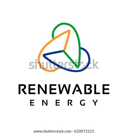 renewable energy logo  Renewable Energy Logo Stock Vector (Royalty Free) 620072225 ...