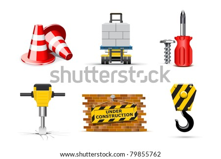 Renovation icons | Bella series - stock vector