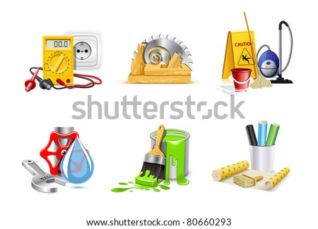 Renovation icons | Bella series, part 1 - stock vector