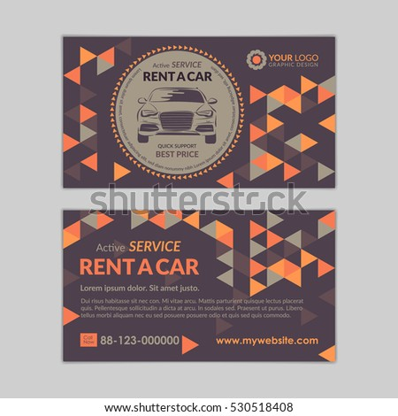 Rent car business card template abstract stock vector royalty free rent a car business card template with abstract geometry pattern triangle backgrounds auto service mockup reheart Image collections