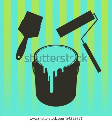 repaint equipment - stock vector
