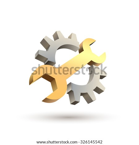 Repair 3d icon - stock vector