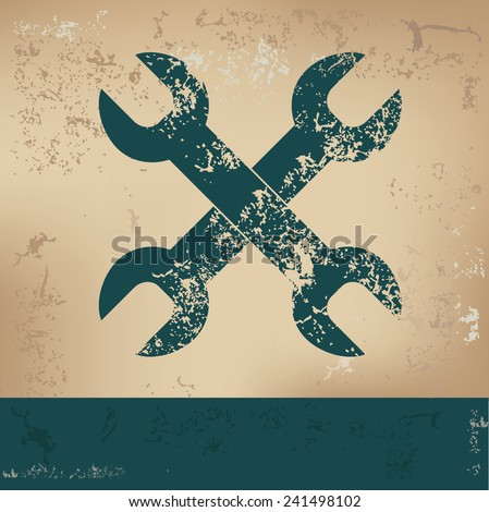 Repair design on old background, grunge vector - stock vector