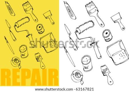 repair equipment - stock vector