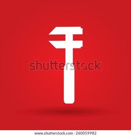 Repair Icon. Service symbol. Tools sign. Flat design style. - stock vector