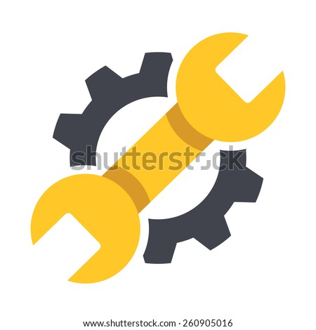 Repair icon. Vector Illustration. Creative graphic design logo element. Isolated on white background. - stock vector