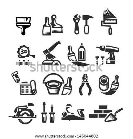 Repair Icons. Vector illustration - stock vector