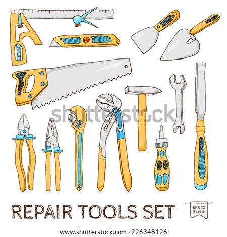 Repair tools | Sketch set