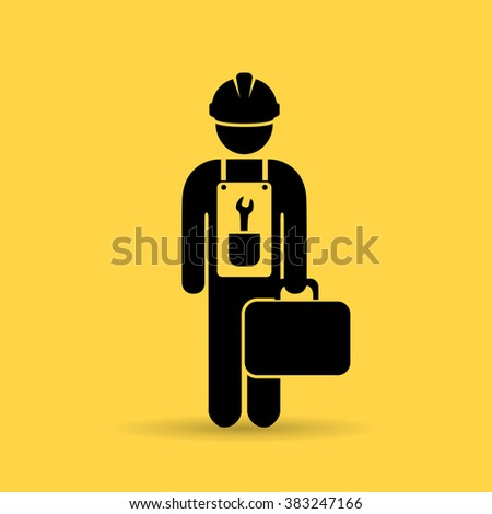Repairman vector icon - stock vector
