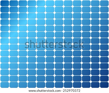 Repeatable Solar Panel Pattern / matching spaces at margins / - stock vector