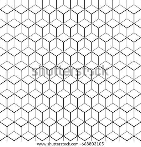 Repeated Color Interlocking Polygons Tessellation On Stock Vector ...