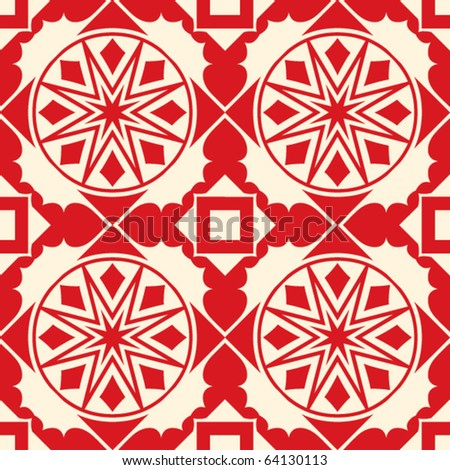 repeating christmas backdrop decoration - stock vector
