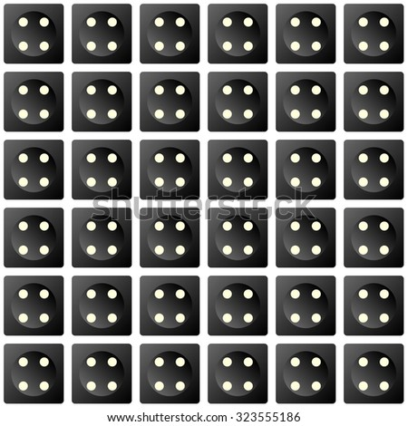 Repeating dice as a wallpaper effect