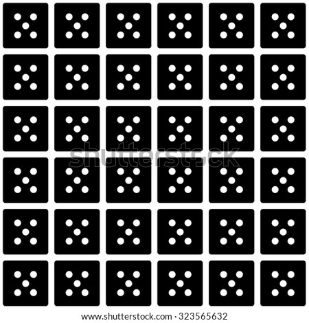 Repeating Dice - number five as a wallpaper effect