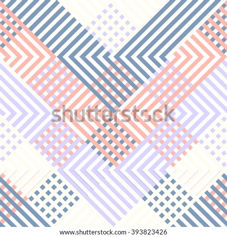 Repeating geometric background. Artistic Seamless pattern. - stock vector