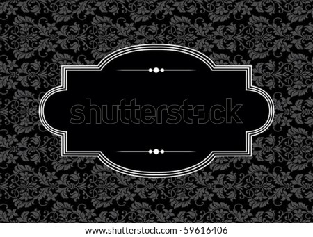Repeating pattern and ornate frame. Easy to edit. Seamless swatch included. - stock vector