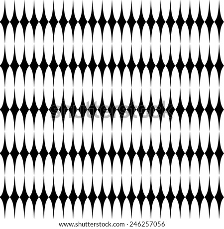 repeating pattern of regular shapes - vector - stock vector