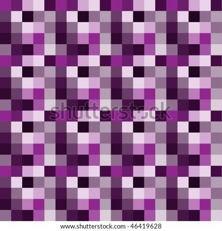 Repeating purple symmetric design - seamless pattern. - stock vector