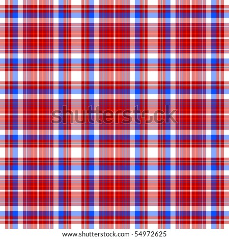 Repeating red-blue-white checkered pattern (vector EPS 10) - stock vector